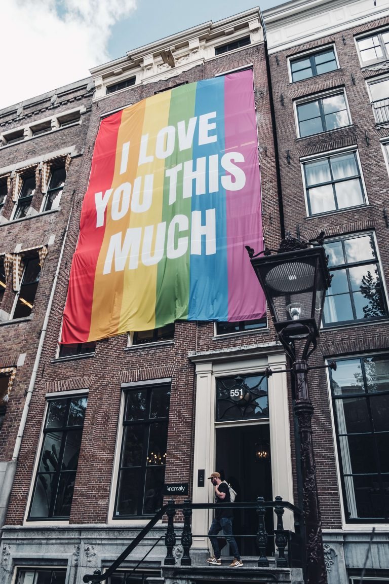 flag, pride, amsterdam, house