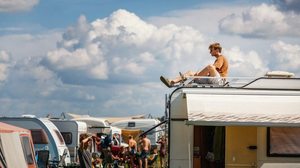 guy on the camper